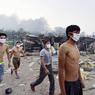 Войска химической защиты КНР направлены к месту взрыва