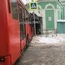 Автобус протаранил мечеть в Казани