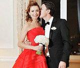 Телеведущая Татьяна Геворкян выбрала для свадьбы алое платье