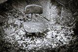 В поселке Вышков Брянской области  под землю провалились баня и гараж