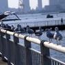Улицы Токио буквально вымерли, несмотря на выходной день