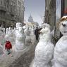 Снежный человек приносит в города леденящий ужас (ФОТО)