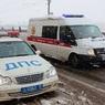 Полыхающий открытым пламенем прицеп фуры остановил в пробке маашины под Екатеринбургом