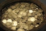 Толпу кладоискателей собрали «падающие с неба» золотые монеты