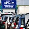 На Керченской переправе установили палаточный городок для автомобилистов-очередников