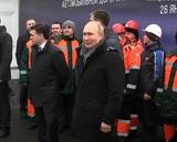 Путин принял участие в открытии транспортной развязки в Химках