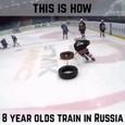 Видео с тренировки юных российских хоккеистов было просмотрено 17 млн раз