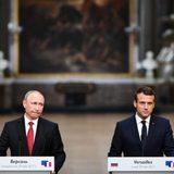 """Макрон заявил о """"новом уровне"""" сотрудничества по Сирии после встречи с Путиным"""