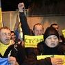 Украинские автомобилисты перекрывают дороги Беркуту