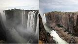 Климатологи показали, во что превратился за год водопад Виктория