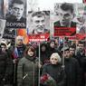 МВД: На акцию памяти Немцова вышли 7 тысяч человек, коммунисты собрали 3 тысячи