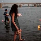 На реке Оби прошел фестиваль водных фонариков (ВИДЕО)