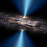 Черная дыра пугает обитателей космоса ярко-красными вспышками