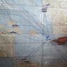 В месте исчезновения малазийского самолета виден дым