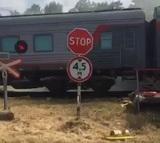 В Адыгее столкнулись пассажирский поезд и КамАЗ