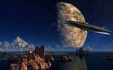 Уфологи рассмотрели сигарообразный НЛО на спутнике Юпитера