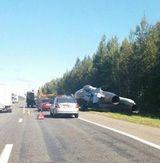 Истребитель опрокинулся в кювет у белорусской трассы
