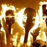 В Крыму сожгли соломенного Бандеру