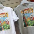 Немецкие модельеры изумили Париж портретами Путина на одежде