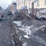 В Кемеровской области улицы оказались покрыты чёрным снегом