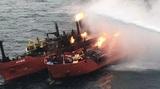 Эрдоган поблагодарил Россию за спасение турецких моряков при пожаре в Черном море