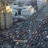 В Москву пришла зима. На Садовом ремонтируют водопроводные магистрали