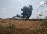 Появилось видео с падением горящего МиГ-29 в Индии