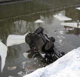 В Яузе утонул очередной автомобиль