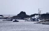 Опубликовано видео с места столкновения фрегата с танкером у берегов Норвегии