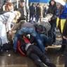 Взрывное устройство на марше в Харькове выбросили из проезжавшего автомобиля