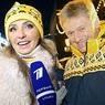Татьяна Навка и Дмитрий Песков появились вместе на открытии катка у ГУМа