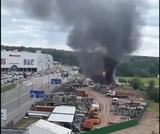 Торговый центр в Новой Москве эвакуировали из-за пожара на заправке
