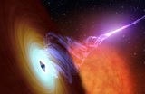 Астрономы сняли на видео взрыв черной дыры