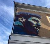Казань встречает Лионеля Месси шестиметровым граффити с его изображением
