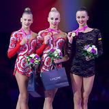 Золото и серебро ЧМ по по художественной гимнастике у России