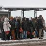 В Хабаровске микроавтобус врезался в остановку с людьми