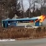 Горящий трамвай проехал по улицам Хабаровска