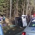 Семь человек погибли под Вологдой в ДТП с микроавтобусом
