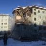 Камера запечатлела момент взрыва в жилом доме в Мурманске