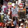 В Лондоне прошли многотысячные протесты против приезда Трампа