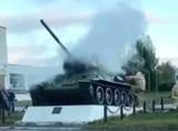 В Нижегородской области на постаменте задымился Т-34