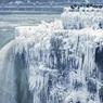 Ниагарский водопад замёрз из-за небывалых морозов