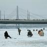 Накрыло: на Волге рыбаки ушли под лед, растрескавшийся под проходившим мимо судном