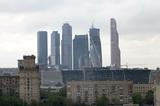 В Москва-сити загорелся строящийся небоскрёб