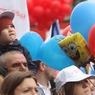 МВД: На демонстрацию профсоюзов собрались около 140 тысяч человек