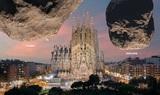 ЕКА показало реальные размеры двух опасных астероидов на фоне мировых памятников