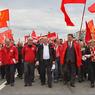 В центре Москвы началось шествие коммунистов