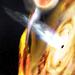 Астрономы впервые обнаружили сжимающуюся черную дыру