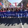 В центре Москвы стартовало первомайское профсоюзное шествие